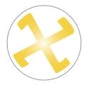 Emblema-esvástica (dorada fondo blanco)
